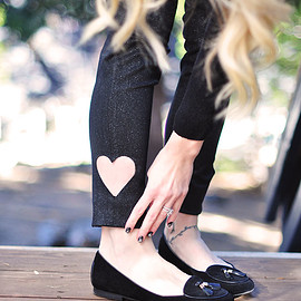 DIY - Cut-out Heart Jeans