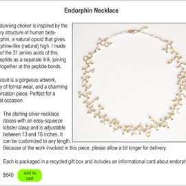 made with molecules - endorphin necklace