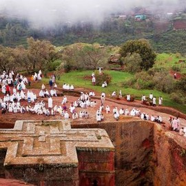 Ethiopia - A church forest in Lalibela
