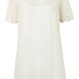 TOPSHOP - **Lace Mini Tee Dress By Richard Nicoll