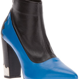 TOGA - Toga Pulla Paneled Ankle Boot in Blue - Lyst