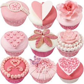 Wilton - Soft and Sophisticated Valentine's Day Cupcakes Scene