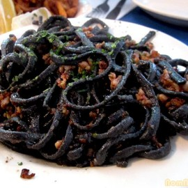 "The Daily Catch - Tinta de Calamar ""Black Pasta"" Aglio Olio"