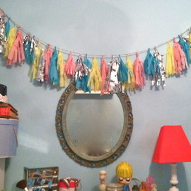 rookiemag:DIY: Celebratory Tassel GarlandWho decided that cheerful décor is reserved for one month a year?!