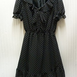 MILK - milk polka dots chiffon dress