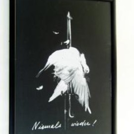 JOHN HEARTFIELD - NEVER AGAIN SILK SCREEN POSTER(フレーム付き)