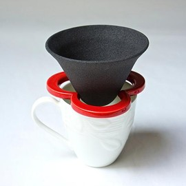 224 Porcelain - Coffe hat Red