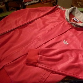 """adidas - 「<used>80's adidas SATIN JERSEY pink""""made in USA"""" size:W's M 5800yen」完売"""