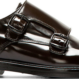 Carven - Dark Brown Leather Monk Strap Shoes