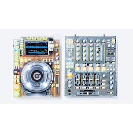 PIONEER - TRANSPARENT CDJ AND MIXER
