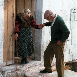 never too old to lend a loving hand
