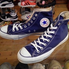 "converse - 「<used>80's converse ALLSTAR HI navy""made in USA"" size:US8(26.5cm) 14800yen」販売中"