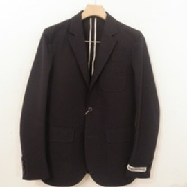 universal products - NAVY COTTON TAILORED JACKET