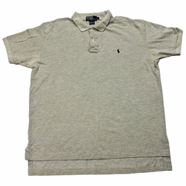 POLO RALPH LAUREN - Vintage Polo by Ralph Lauren Gray/Navy Polo Shirt Made in USA Mens Size Large