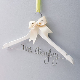 Clouds and Currents - Personalised Wedding Dress Hanger