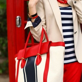 street - Red, white, and blue.