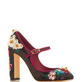 DOLCE&GABBANA - SS2016 Black & Pink Mary Jane Pump