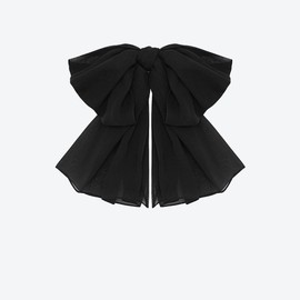SAINT LAURENT - SIGNATURE LARGE BOW WITH LEATHER COLLAR