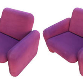 """Herman Miller - 2 Ray Wilkes """"Chiclet Chairs"""" Produced by Herman Miller"""