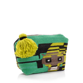 Meredith Wedell - Didi Tiger Pouch/Green