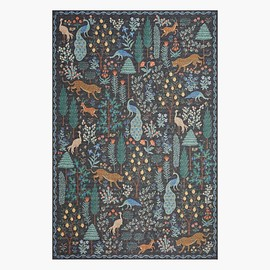 RIFLE PAPER CO. - Menagerie Forest Black Power-Loomed Rug