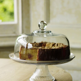 bailey - pressed glass cake stand and dome