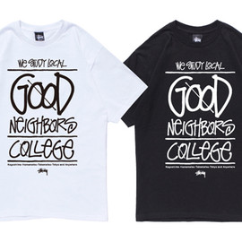Stussy - Good Neighbors College Tee | White, Black