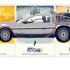 Phantom City Creative from Movie Art Boutique 'Mondo' - Back to the Future Part Ⅰ,Ⅱ,Ⅲ (3枚セット)