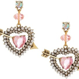 Betsey Johnson - Betsey Johnson Earrings, Heart And Arrow Drop Earrings