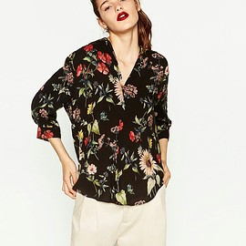 ZARA - flower brouse