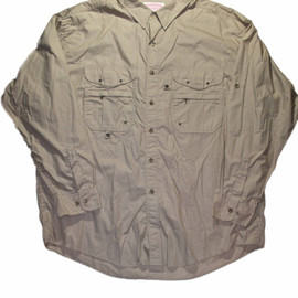 FILSON - Vintage Tan Filson Long Sleeved Fishing Shirt Made in USA Mens Size XXL