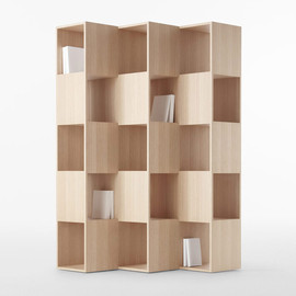 nendo, Conde House - Wooden fold shelf
