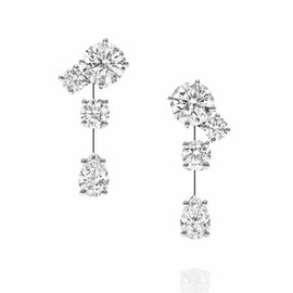 Harry Winston - Nightlife by Harry Winston, Short Drop Diamond Earrings