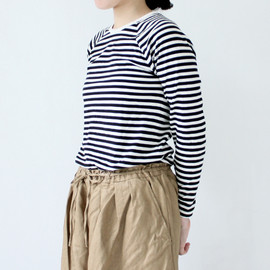 Charpentier de Vaisseau - Middle Stripe Long Sleeve Black×White