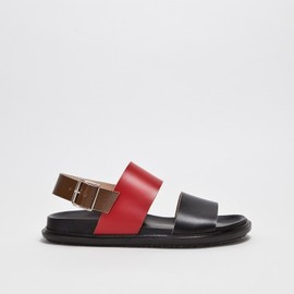 Marni - Fussbett Sandal Black / Red / Brown