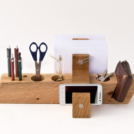 lessandmore - Large Desk Organizer Wood Office Organizer Desk