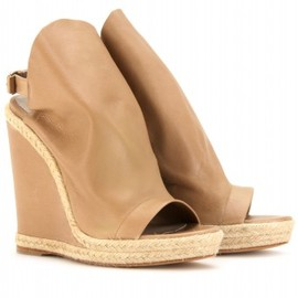 BALENCIAGA - GLOVE ESPADRILLE DETAILED LEATHER WEDGES