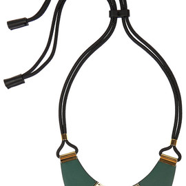 MARNI - Leather and horn necklace
