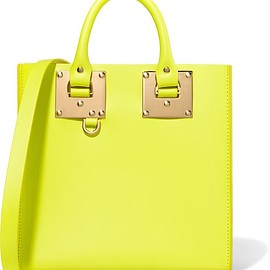 Sophie Hulme - Albion neon leather tote