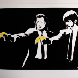 Banksy - pulpfiction silkscreen