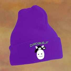 Dinosaur Jr. - Cow design on a purple beanie
