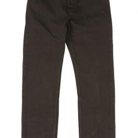 KRIS VAN ASSCHE, Lee - 5POCKETS DENIM TROUSERS DARK BROWN 2012-13AW