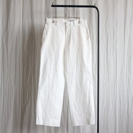 YAECA - Chino Cloth Pants - wide #white