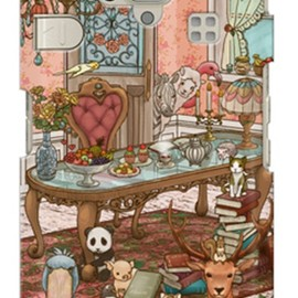 SECOND SKIN - uistore 「antique room」 / for シンプルスマホ 204SH/SoftBank