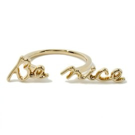 """ete - ■ete×一ツ山佳子 Collaborated Jewelry - Message colleltion - """"Be nice""""■"""