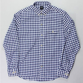 Albam - slim-fit button-down gingham shirt