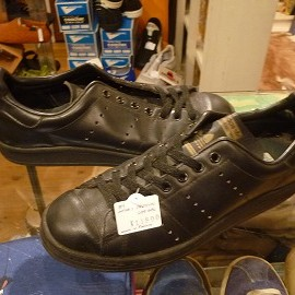 """adidas - 「<used>80's adidas OFFICIAL black""""made in FRANCE"""" size:GB6(24.5cm) 11800yen」完売"""