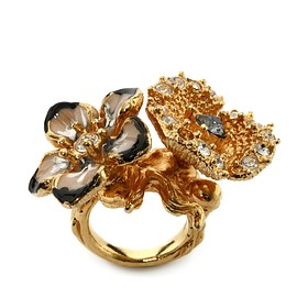 Alexander McQueen - SS2015 Cherry Blossom Two Flowers Ring