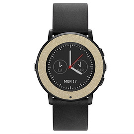 Pebble Time Round, MATTE COLOR - Pebble Time Round Matte Metallic Pyrite Wrap and Screen Protectorw