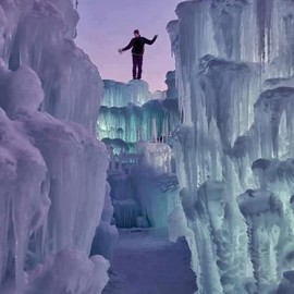 Utah, USA - ice castle